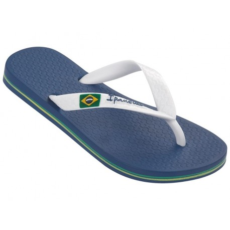 CLAS BRASIL II blue and white flat finger flip flops for girl