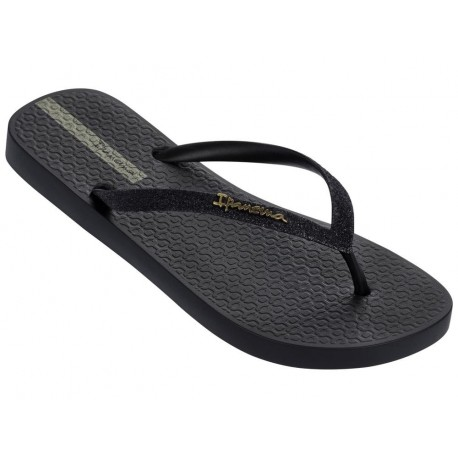 LOLITA III black flat finger flip flops for woman