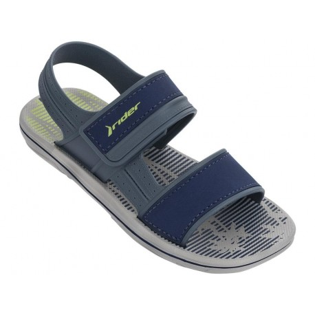 RIDER SANDAL KIDS blue and grey flat roman sandals for child