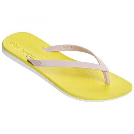MELISSA + IPANEMA ipanema pink and white flat finger sandals for woman