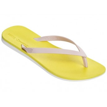 MELISSA + IPANEMA ipanema pink and yellow flat finger sandals for woman
