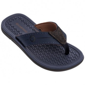 MALI X blue and brown flat finger flip flops for man
