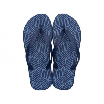 COPACABANA AD blue geometric shapes print flat finger flip flops for man
