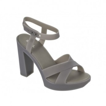 CLASSIC LADY grey with heel sandals for woman