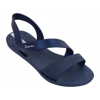 VIBE cristina pedroche navy blue flat roman sandals for woman
