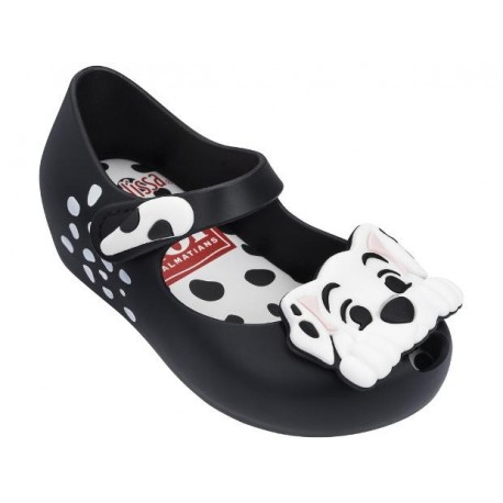 ULTRAGIRL + 101 DALMATIANS black and white fantasy print flat closed ballet flats for baby
