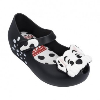 ULTRAGIRL + 101 DALMATIANS black and white fantasy print flat ballet flats for baby