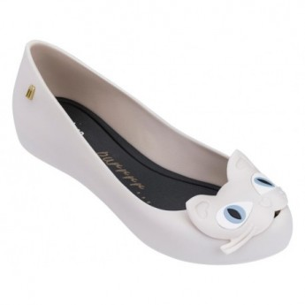 ULTRAGIRL CAT II beige and black flat ballet flats for woman