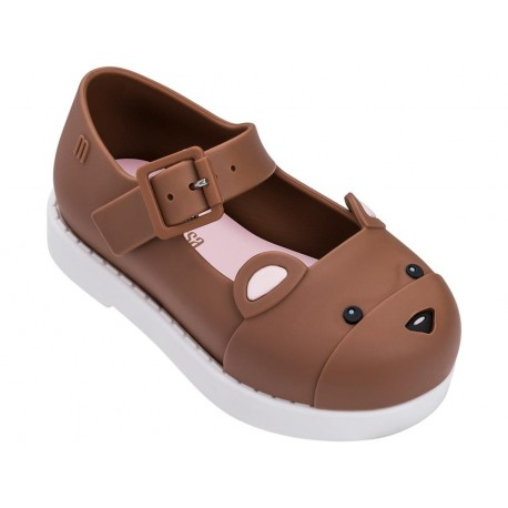 MINI MELISSA MAGGIE BEAR BB 50672 BROWN WHITE-MARRON BLANCO