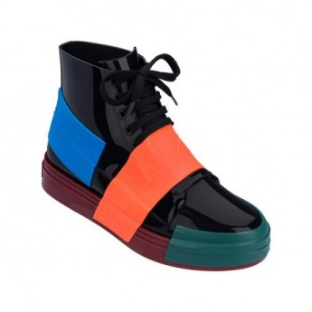 CREW love match black and brown flat sneaker sneakers for woman
