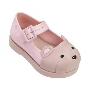 MAGGIE BEAR beige and pink flat closed sandals for baby