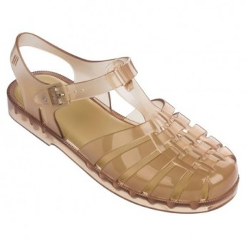 POSSESSION beige flat crab sandals for woman