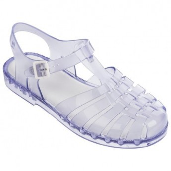 POSSESSION transparent flat crab sandals for woman