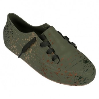 ULITSA SNEAKER SPLASH love match sneakers planas de mujer marrón y verde