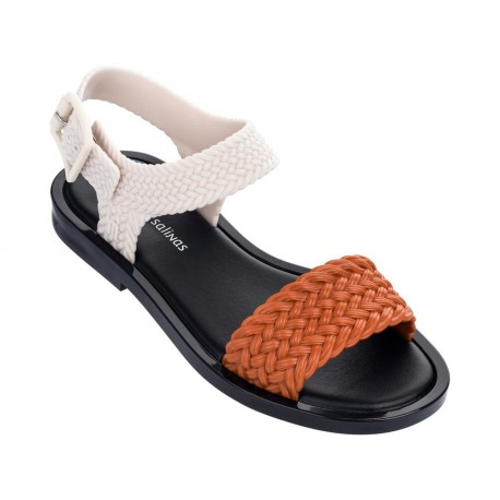 MAR SANDAL + SALINAS orange flat open sandals for woman