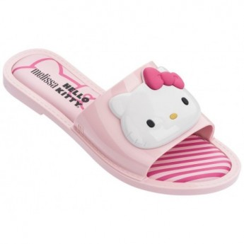 SLIPPER + HELLO KITTY hello kitty flat shovel flip flops for woman