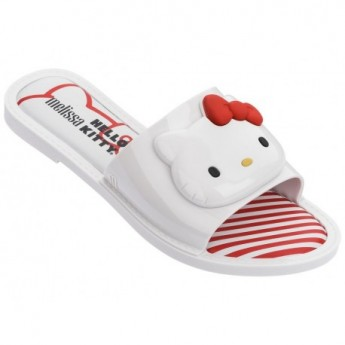 SLIPPER + HELLO KITTY hello kitty chanclas pala planas de mujer blanco