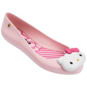 SPACE LOVE + HELLO KITTY hello kitty pink flat closed ballet flats for woman