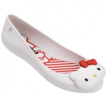 SPACE LOVE + HELLO KITTY white flat ballet flats for woman