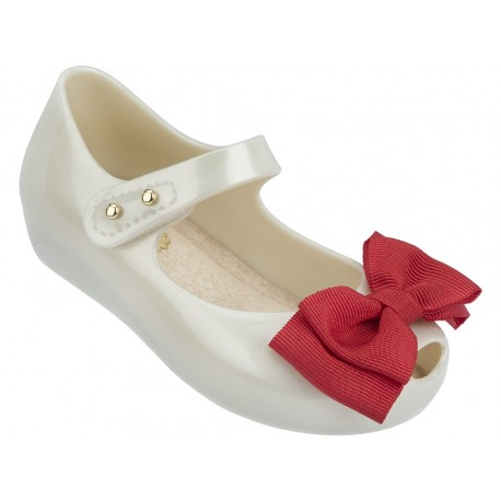 MINI MELISSA ULTRA SWEET BB 50488 WHITE RED-BLANCO ROJO