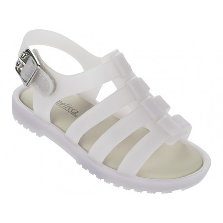 FLOX beige flat roman sandals for baby