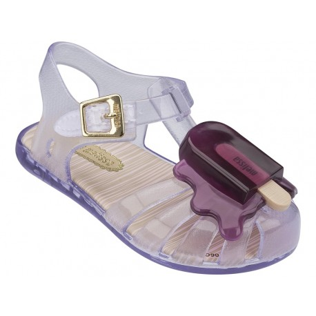 MINI MELISSA ARANHA VIII BB 52056 CLEAR PURPLE-TRANSPARENTE PURPURA