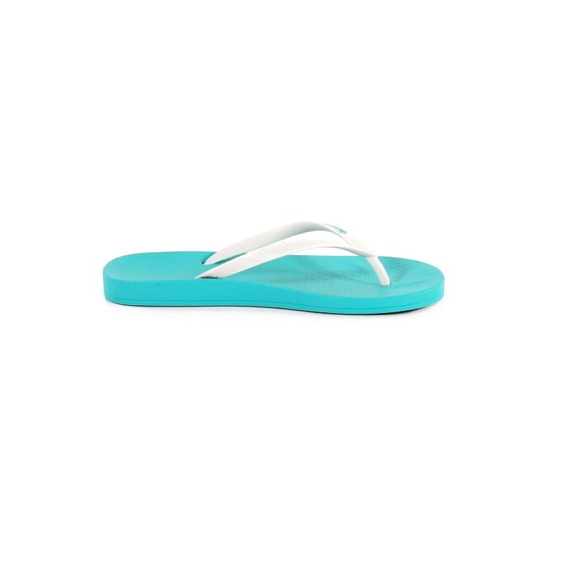 Ipanema Anatomica Tan Green And White Flat Finger Flip Flops For Woman-3332
