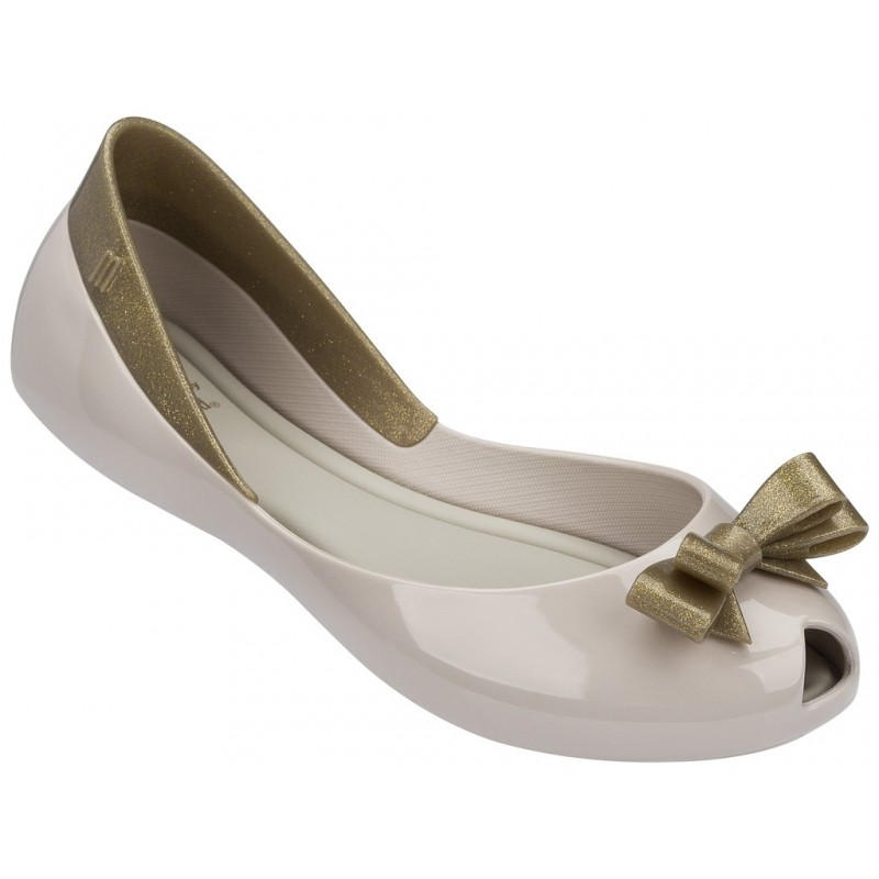 mini melissa Ballerines pour fille or or