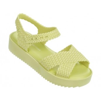 HOTNESS + SALINAS salinas yellow platforms open sandals for woman