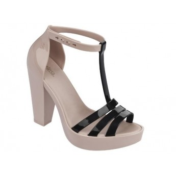 DREAMY black and pink with heel open sandals for woman