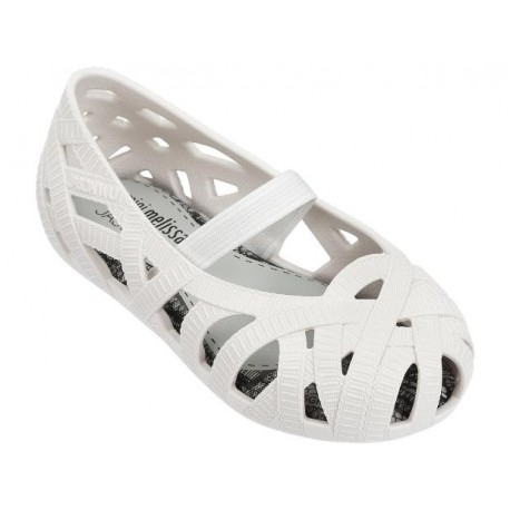 JEAN + JASON WU white flat closed ballet flats for baby