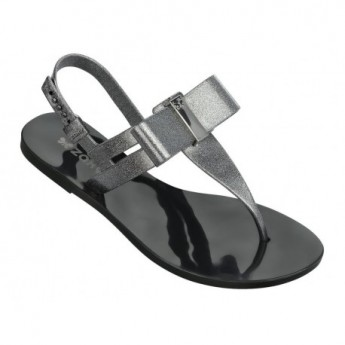 GLAZE black flat finger sandals for woman
