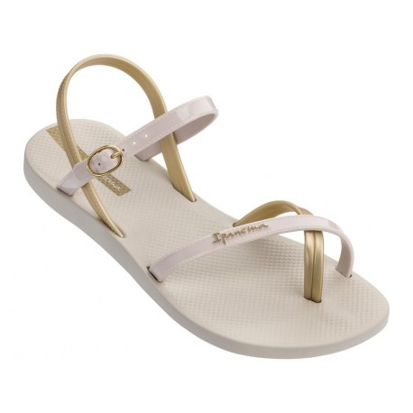 FASHION SAND VII beige flat finger sandals for woman