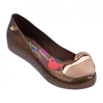 ULTRAGIRL XIX vivienne westwood brown fantasy print flat closed ballet flats for woman