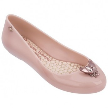 SPACE LOVE V vivienne westwood pink fantasy print flat closed ballet flats for woman