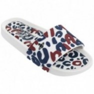 BEACH SLIDE III vivienne westwood fantasy print flat open sandals for woman