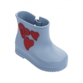 BOOT blue fantasy print flat closed boots for baby