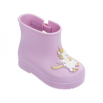 BOOT pink fantasy print flat closed boots for baby