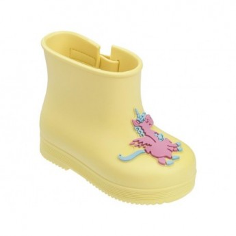 BOOT yellow fantasy print closed boots for baby