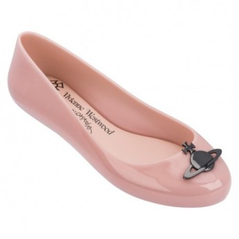 SPACE LOVE V pink fantasy print flat ballet flats for woman