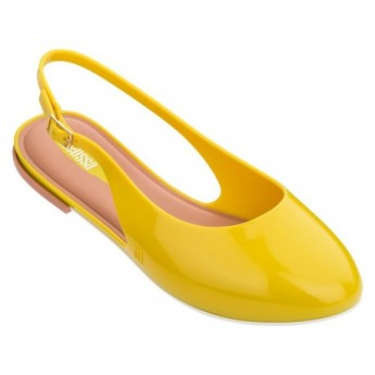 LIPSTICK yellow flat open sandals for woman
