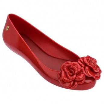 SPACE LOVE FLOWER red flat closed ballet flats for woman