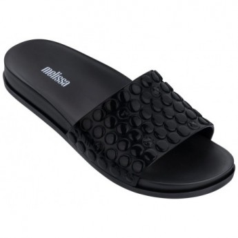 POLIBOLHA black flat open flip flops for woman