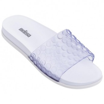 POLIBOLHA white flat open flip flops for woman