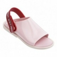 TWIST beige and pink flat open sandals for woman