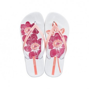 ANAT NATURE III F pink and white floral print flat finger flip flops for woman