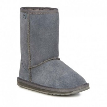 WALLABY LO TEENS grey flat closed boots for woman