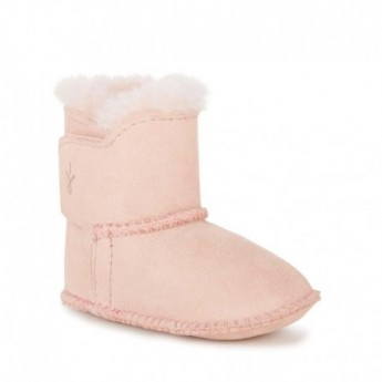 BABY BOOTIE pink flat closed boots for baby