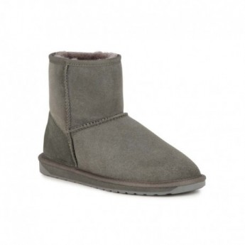 STINGER MINI grey flat closed boots for woman