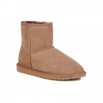 STINGER MINI brown flat closed boots for woman